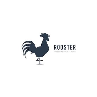 Modello di logo semplice gallo