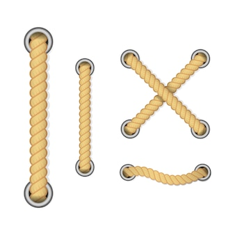 Corda per decorazione e rivestimento, nodi di corda ritorti nautici.