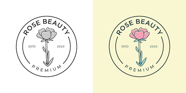 Salone di bellezza rosa e design del logo spa