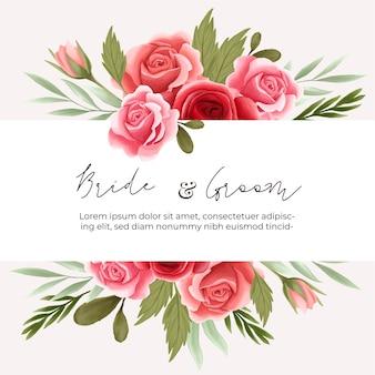 Elemento di composizione floreale rosa per carta di nozze, biglietto di auguri, calendario, banner, carta da parati