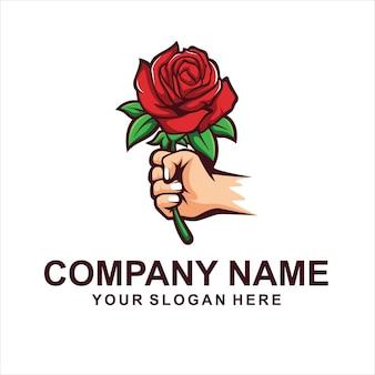 Logo del fiore di rosa