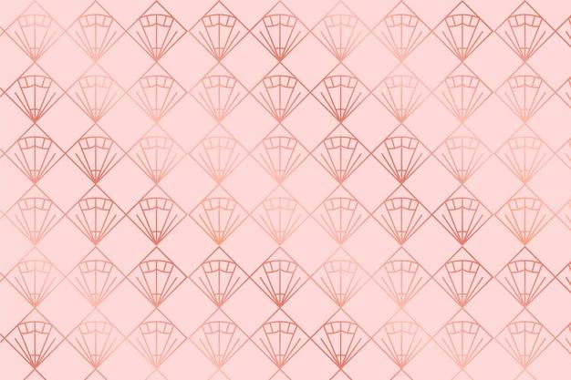 Modello art deco in oro rosa