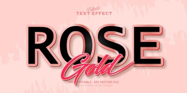 Testo in oro rosa, effetto di testo modificabile