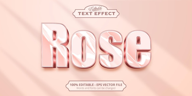 Testo in oro rosa, effetto testo modificabile