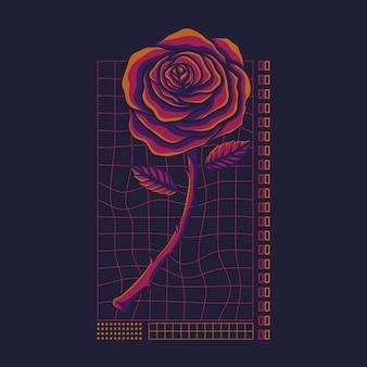 Illustrazione di rose streetwear
