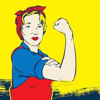 Rosie the riveter pop art