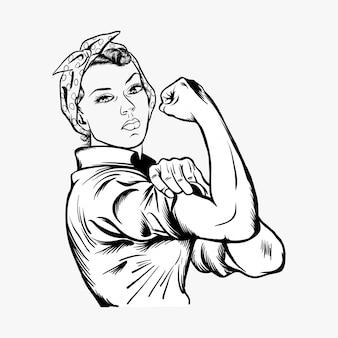 Rosie l'illustrazione vettoriale rivettatrice