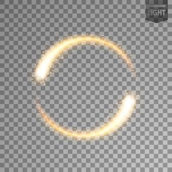 Luce dorata rotante