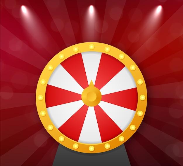 Fortuna 3d della roulette. ruota la fortuna per il gioco e vinci il jackpot. concetto di casinò online.