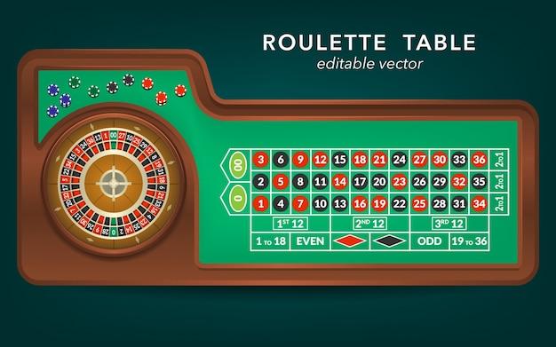 Vista del tavolo del casinò di roulette