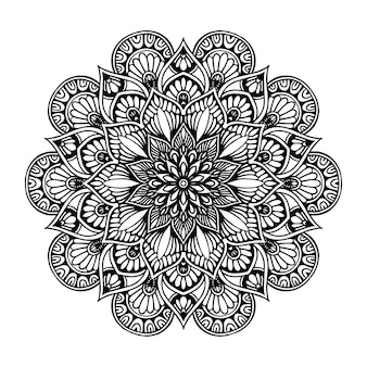 Mandala fiore rotondo per tatuaggio, henné. elementi decorativi vintage. orientale
