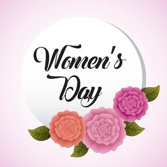 Round womens day dell'invito