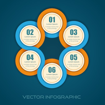Illustrazione grafica di informazioni banner numerato rotondo