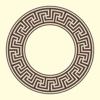 Blocco per grafici colorato marrone ornamentale rotondo isolato