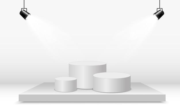 Podio rotondo o piattaforma su uno sfondo trasparente.