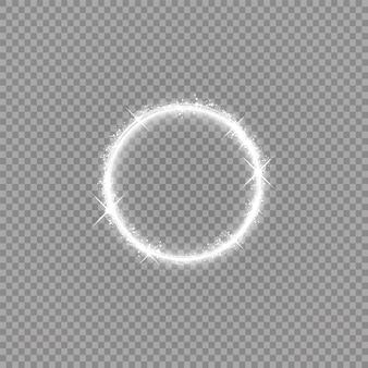 Sfondo cornice lucida rotonda con luci