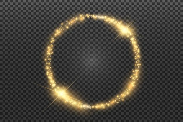 Cornice rotonda lucida cerchio magico
