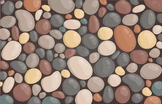 Vettore di sfondo tondo tappezzeria di pietra