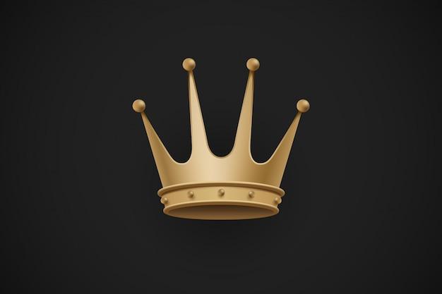 Corona reale su uno sfondo nero scuro