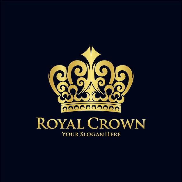 Modello di logo di corona reale
