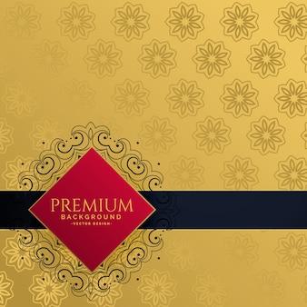 Sfondo di invito royal golden lusso