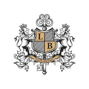 Logo del marchio del leone reale
