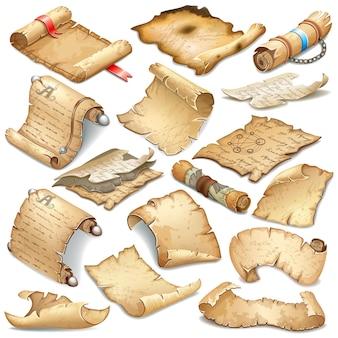 Royal vecchia carta pergamena per messaggio