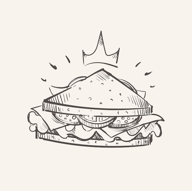 Royal sandwich triangolare schizzo