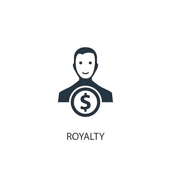 Icona royalty. illustrazione semplice dell'elemento. disegno di simbolo del concetto di royalty. può essere utilizzato per web e mobile.