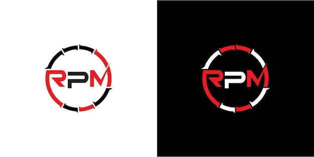 Design del logo rpm per il settore automobilistico