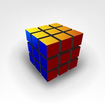 Illustrazione del cubo di rubic 3d