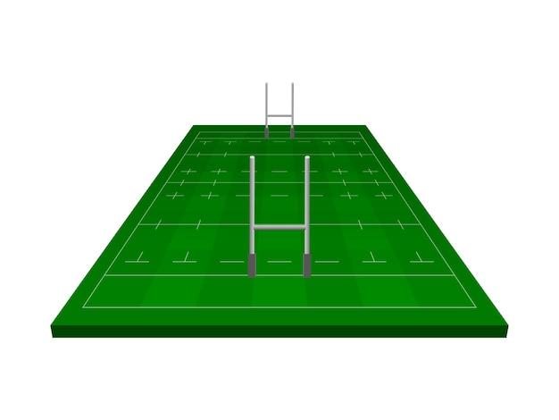 Campo da rugby con cancello da rugby.