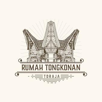 Rumah tongkonan toraja indonesia