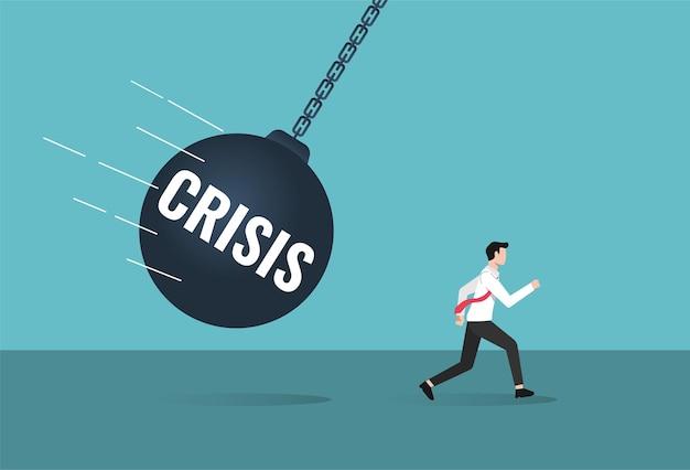 Scappa ed evita l'illustrazione della crisi.