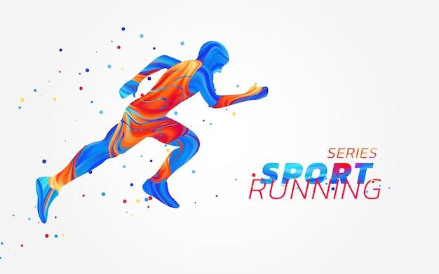 Runner con macchie colorate isolati su sfondo bianco