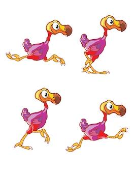 Esecuzione di dodo bird cartoon gioco sprite di animazione del personaggio