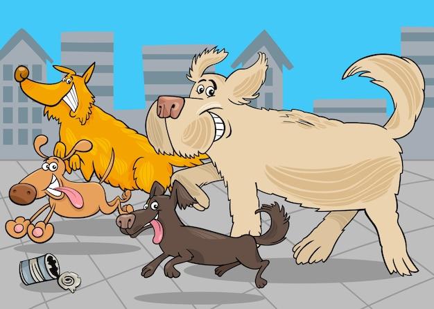 Cani da corsa cartone animato animale