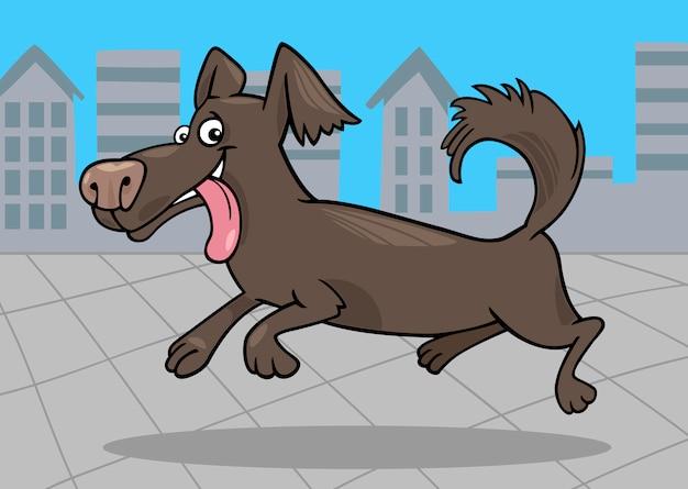 Illustrazione del fumetto del piccolo cane corrente