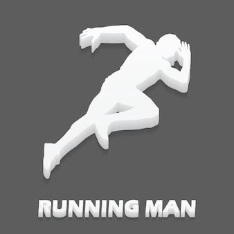Illustrazione dell'uomo che corre. immagine in stile creativo e sportivo