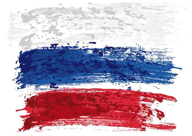 Bandiera russa dipinta con un pennello