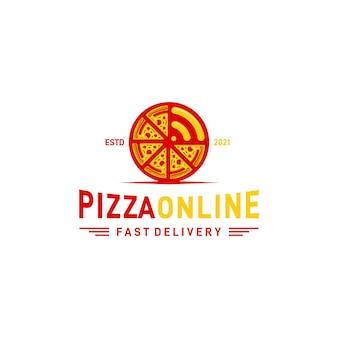 Rustico retro vintage pizza o pizzeria logo design e logo signal