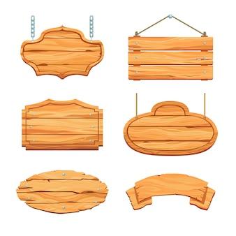 Set di assi di legno rustico