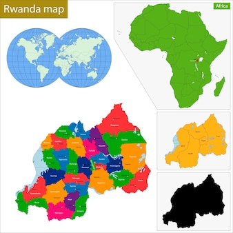 Mappa del ruanda