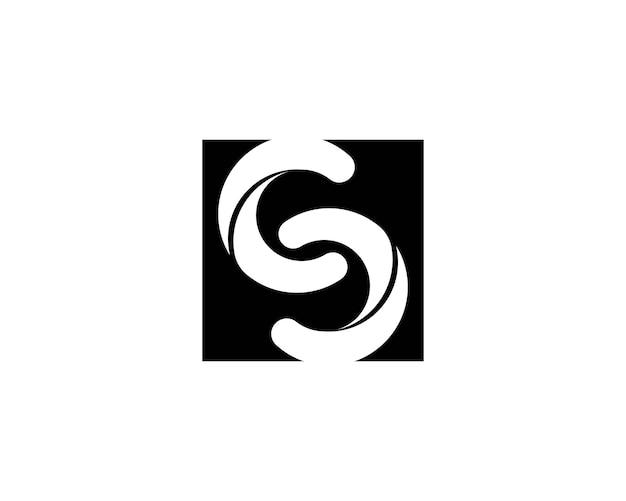 S lettera infinito logo icona Vettore Premium