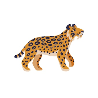 Tigre americana estinta preistorica del gatto dai denti a sciabola