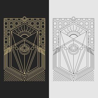 Pentagramma della geometria sacra