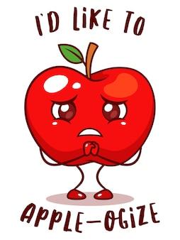 Frutta mela triste