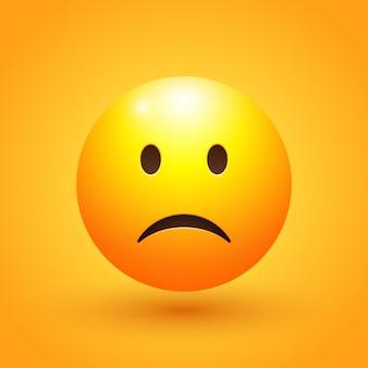 Illustrazione di emoji faccia triste