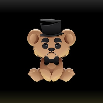 Illustrazione dell'orso magico triste