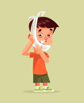 Il carattere triste dell'uomo infelice ha un dente malato